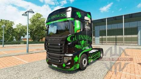 Guinness de la peau pour le camion Scania R700 pour Euro Truck Simulator 2