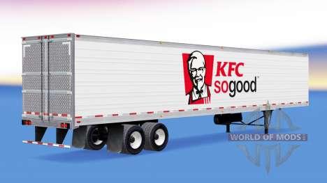 Die Haut auf KFC reefer-Auflieger für American Truck Simulator