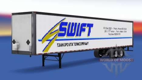 All-Metall-Auflieger Swift für American Truck Simulator