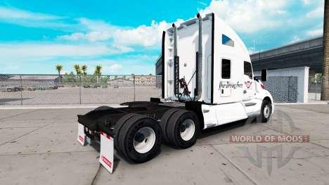 La peau sur le Trapèze Ouest tracteur Kenworth pour American Truck Simulator