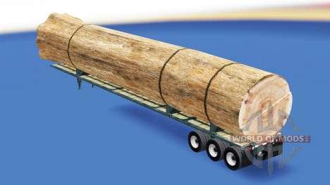 Semi-trailer mit einer Belastung von Baumstamm für American Truck Simulator