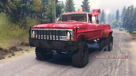 Ford F-200 1970 [Tow Truck] für Spin Tires