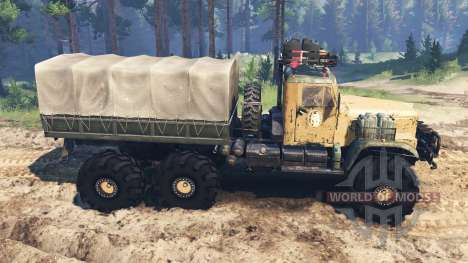 KRAZ-255 Piece für Spin Tires