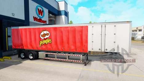 Vorhang semi-trailer Pringles für American Truck Simulator