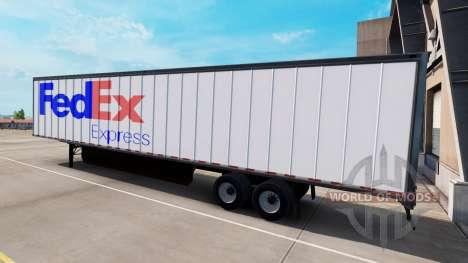 Une collection de peaux pour les remorques pour American Truck Simulator