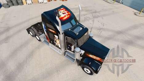La peau etats-unis camion Kenworth W900 pour American Truck Simulator