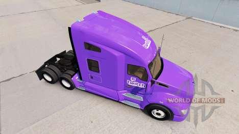 Haut Zucken auf einem Kenworth-Zugmaschine für American Truck Simulator