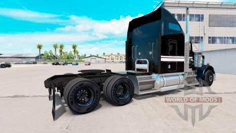 Haut, Schwarz und Weiß auf der LKW-Kenworth W900 für American Truck Simulator