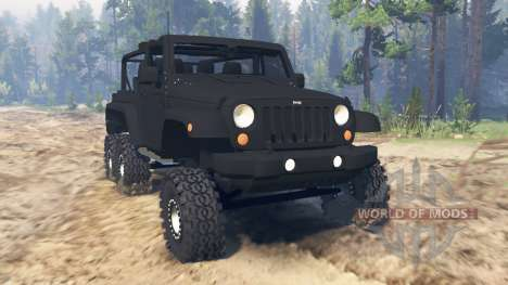 Jeep Wrangler 6x6 Turbo pour Spin Tires