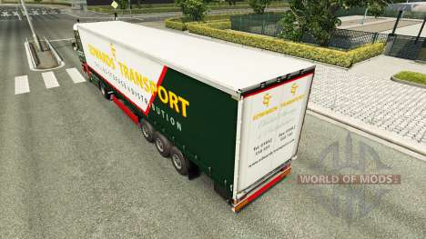 Edwards Transport de la peau pour Scania camion pour Euro Truck Simulator 2