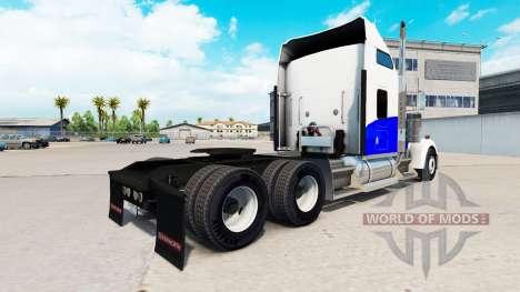 Blue Wave skin für den Kenworth W900 Zugmaschine für American Truck Simulator