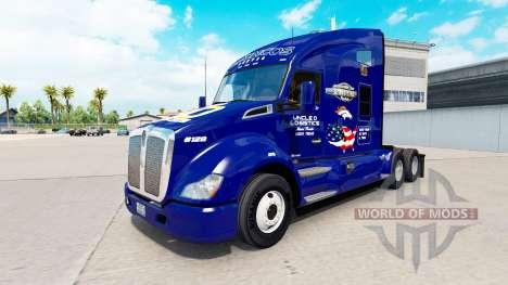 La peau Broncos sur tracteur Kenworth pour American Truck Simulator