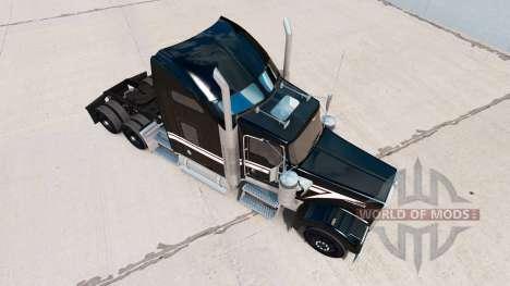 La peau Noir et Blanc dans le camion Kenworth W9 pour American Truck Simulator