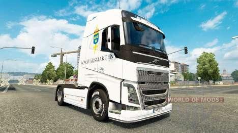 Forsvarsmakten de la peau pour Volvo camion pour Euro Truck Simulator 2