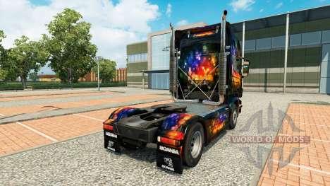 La Couleur de la peau sur le Mur tracteur Scania pour Euro Truck Simulator 2