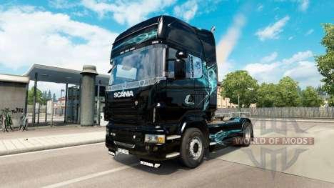 De la peau, de Turquoise, de la Fumée pour Scani pour Euro Truck Simulator 2