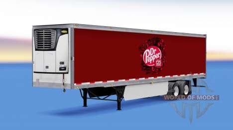 La peau de Dr Pepper sur la remorque pour American Truck Simulator