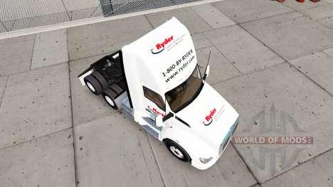 Haut auf Ryder truck Kenworth für American Truck Simulator