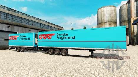Auflieger Krone Gigaliner [Dänisch Fragtmaend] für Euro Truck Simulator 2