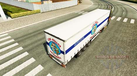 Haut-Los Pollos Hermanos, die auf dem Anhänger für Euro Truck Simulator 2
