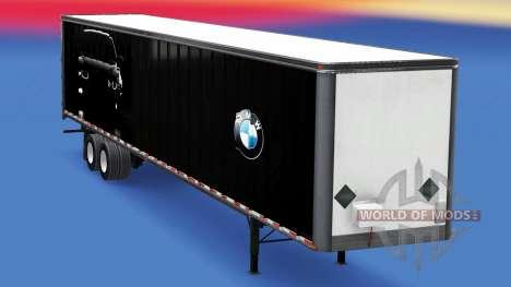 All-metal semitrailer BMW für American Truck Simulator