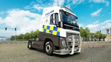 Polizei skin für den Volvo truck für Euro Truck Simulator 2