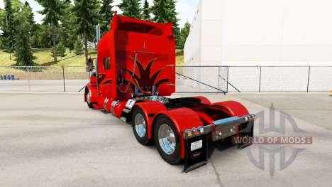 La peau de l'Orange Show pour le camion Peterbil pour American Truck Simulator