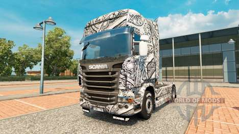 Batik Indonesien-skin für den Scania truck für Euro Truck Simulator 2