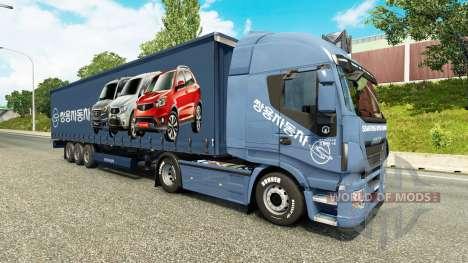 Peaux Société de location de Voitures sur les ca pour Euro Truck Simulator 2