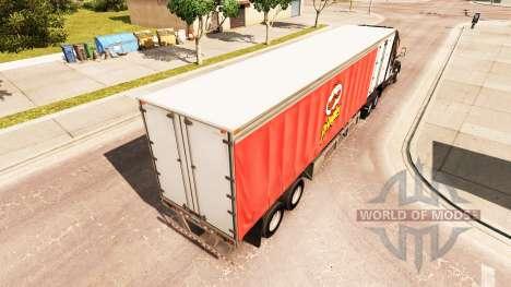 Rideau semi-remorque Pringles pour American Truck Simulator
