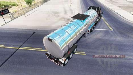 Chrom-Kraftstoff-semi-trailer für American Truck Simulator
