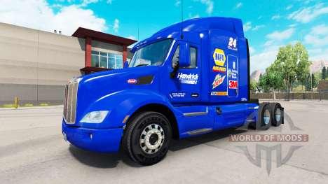 NAPA Hendrick skin für den truck Peterbilt für American Truck Simulator