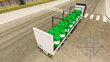 Semitrailer Schmitz Castrol pour Euro Truck Simulator 2