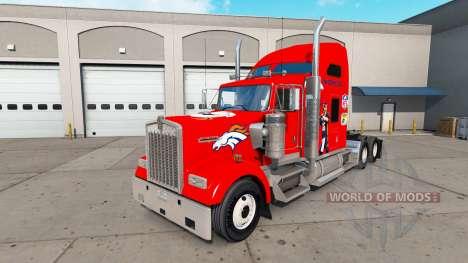 La peau Broncos de Denver sur le camion Kenworth pour American Truck Simulator