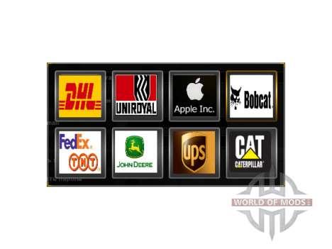 Logos von realen Firmen für American Truck Simulator