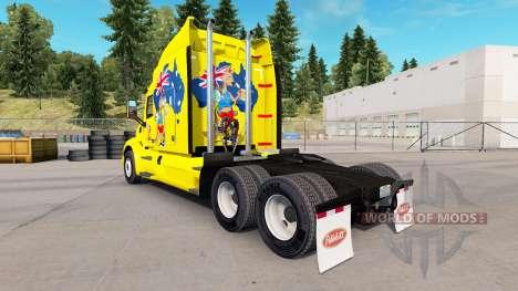 Kangourou de la peau pour le camion Peterbilt pour American Truck Simulator
