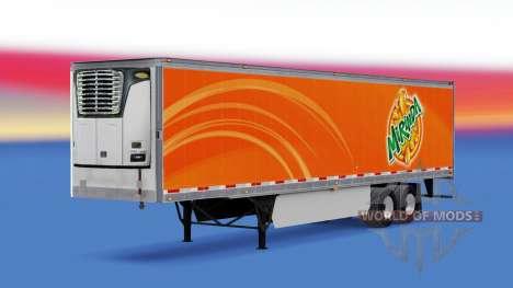 Mirinda Haut auf der reefer-trailer für American Truck Simulator