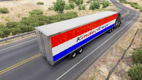 La peau Kinder Riegel sur la remorque pour American Truck Simulator