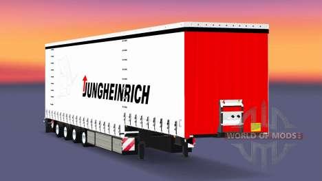 Vier-Achs-Vorhang-Auflieger-Krone für Euro Truck Simulator 2