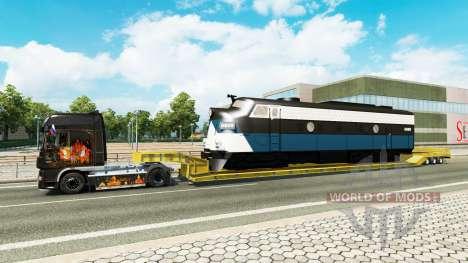 Bas de balayage avec une locomotive pour Euro Truck Simulator 2