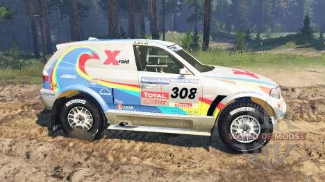 BMW X3 Rally für Spin Tires