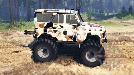 UAZ-315195 chasseur v2.0 pour Spin Tires