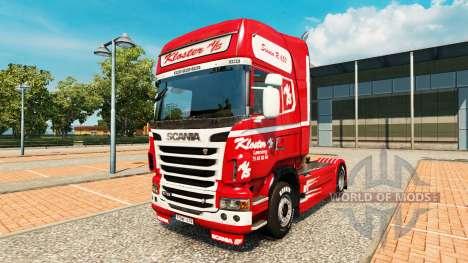 La peau Kloster sur tracteur Scania pour Euro Truck Simulator 2