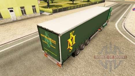 Ken Mallinson skin for DAF truck pour Euro Truck Simulator 2