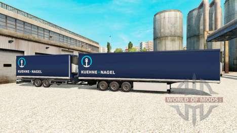 Semi-Trailers Krone Gigaliner [Kuehne Nagel] für Euro Truck Simulator 2