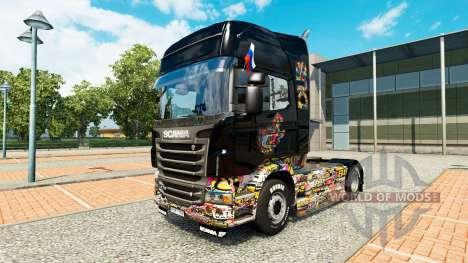 Skin-Aufkleber Bombe Scania LKW für Euro Truck Simulator 2