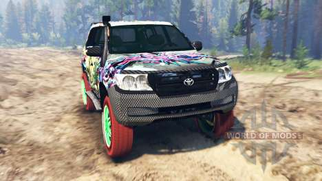 Toyota Land Cruiser 200 [Monster Energy] für Spin Tires