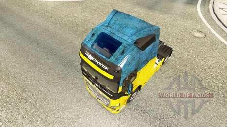 Ukraine-skin für den Volvo truck für Euro Truck Simulator 2