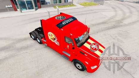 Die Haut San Francisco 49ers auf Traktoren-und P für American Truck Simulator