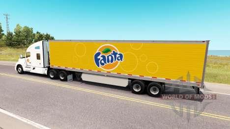 Fanta skin für Kenworth-Zugmaschine für American Truck Simulator